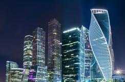 Moskwa centrum biznesu Moskwa Międzynarodowy miasto Zdjęcie Royalty Free