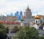 Moskwa centrum miasta panorama w jesieni Obrazy Stock