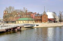 Moskwa cesarza jachtów rzeczny klub Zdjęcia Royalty Free