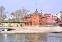 Moskwa cesarza jachtów rzeczny klub Obrazy Stock