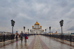 Moskwa - 04,04,2017: Chrystus odkupiciel katedra w cente Zdjęcia Royalty Free
