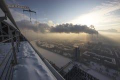 Moskwa dachy zdjęcia royalty free