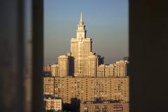 Moskwa dachy zdjęcie stock