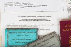Moskwa, federacja rosyjska 02/14/2018 Elektoralny pakunek dla Ita Zdjęcia Stock