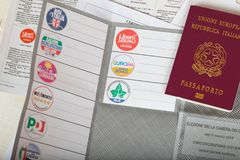 Moskwa, federacja rosyjska 02/14/2018 Elektoralny pakunek dla Ita Obraz Royalty Free