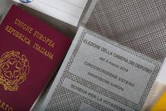 Moskwa, federacja rosyjska 02/14/2018 Elektoralny pakunek dla Ita Fotografia Stock
