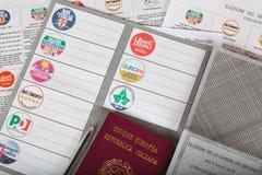Moskwa, federacja rosyjska 02/14/2018 Elektoralny pakunek dla Ita Obrazy Stock