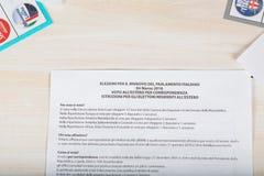 Moskwa, federacja rosyjska 02/14/2018 Elektoralny pakunek dla Ita Fotografia Royalty Free