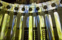 Moskwa, festiwal światło Obraz Royalty Free