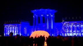 Moskwa, festiwal światło Obrazy Royalty Free