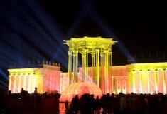 Moskwa, festiwal światło Zdjęcia Royalty Free