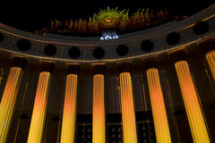 Moskwa, festiwal światło Fotografia Royalty Free