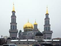 Moskwa Katedralny meczet przemodelowywa od 2007-2015 Obrazy Royalty Free