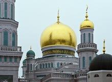 Moskwa Katedralny meczet przemodelowywa od 2007-2015 Obraz Stock