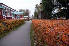 Moskwa, kolory jesień Novodevichy klasztor Zdjęcia Royalty Free