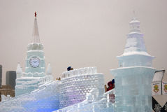 Moskwa Kremlin model robić lód Fotografia Royalty Free