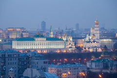Moskwa Kremlin przy nocą Zdjęcie Royalty Free