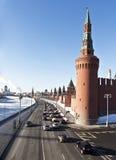 Moskwa Kremlin w pogodnym zima dniu Zdjęcie Stock