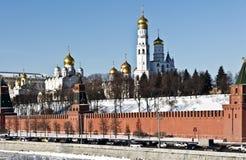 Moskwa Kremlin w pogodnym zima dniu Obraz Stock