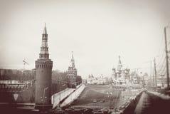 Moskwa Kremlin w zimie Fotografia Royalty Free