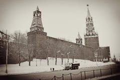 Moskwa Kremlin w zimie Obraz Royalty Free