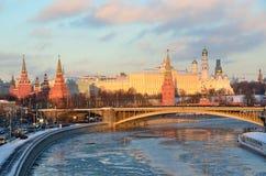 Moskwa Kremlin w zimie, Rosja Obraz Stock