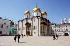 Moskwa Kremlowska katedra Dormition 1475-1479 Obrazy Stock