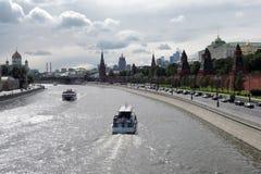 Moskwa Kremlowska panorama w pogodnym letnim dniu Obrazy Royalty Free