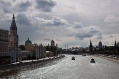 Moskwa Kremlowska panorama w pogodnym letnim dniu Fotografia Royalty Free