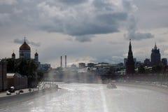 Moskwa Kremlowska panorama w pogodnym letnim dniu Obraz Stock