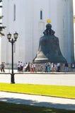 Moskwa Kremlowski Tsar Bell 1733-1735 założycieli Ja et M Motorine lato Obraz Royalty Free