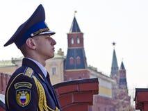 Moskwa Kremlowski wojskowy chroni Zdjęcia Stock