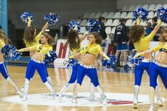 Cheerleaders Obrazy Royalty Free