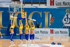 Cheerleaders dynamit Zdjęcie Royalty Free