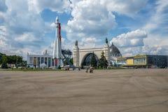 MOSKWA - Lipiec 02, 2016: Architektura VDNH park w Moskwa Obrazy Royalty Free