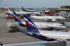 Moskwa lotnisko zdjęcia royalty free