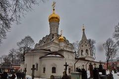 Moskwa - 03 2017 Luty: Donskoy cmentarz w Mos i monaster Obrazy Stock