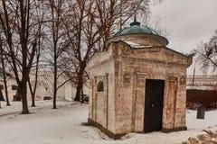 Moskwa - 03 2017 Luty: Donskoy cmentarz w Mos i monaster Zdjęcie Stock