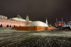 Moskwa mauzoleum rewolucyjny lider Vladimir Lenin jest zamykający dla cztery miesięcy renovati Fotografia Stock
