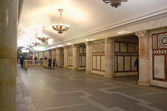 Moskwa metro, stacyjny Paveletskaya (okrąg linia) Obrazy Royalty Free