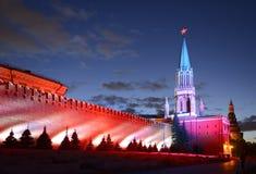 Moskwa Międzynarodowy okrąg LightFestival obraz royalty free