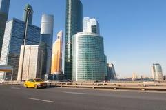"""Moskwa Międzynarodowy Biznesowy Centre MIBC lub """"Moscow miasta `, Obrazy Royalty Free"""