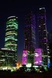 Moskwa miasta centrum biznesu, Moskwa, Rosja zdjęcia royalty free