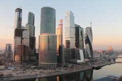 Moskwa miasta drapacze chmur Obrazy Royalty Free