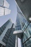 Moskwa miasta drapacze chmur budynki biurowe berlin centrum biznesu architektonicznej ilustracji temat Zdjęcie Stock