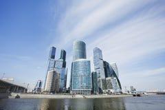 Moskwa miasta drapacze chmur centrum biznesu architektonicznej ilustracji temat budynki biurowe berlin Zdjęcia Royalty Free