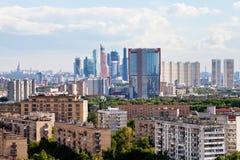 Moskwa miasta linia horyzontu obraz royalty free