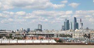 Moskwa miasta międzynarodowy biznesowy centre, Rosja Obrazy Royalty Free