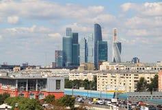 Moskwa miasta międzynarodowy biznesowy centre, Rosja Zdjęcie Stock