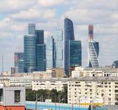 Moskwa miasta międzynarodowy biznesowy centre, Rosja Fotografia Stock